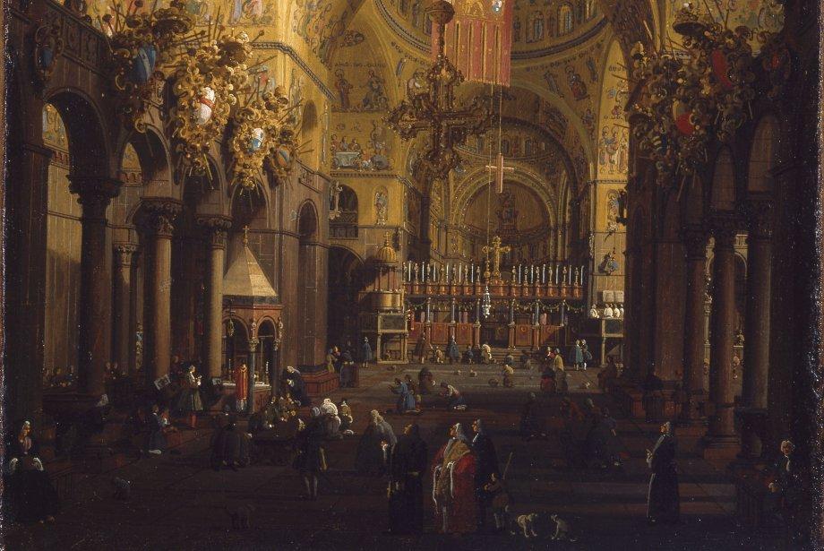 Giovanni Antonio Canal, dit Canaletto, intérieur de Saint-Marc,... (Photo fournie par le Musée des Beaux-Arts de Montréal)