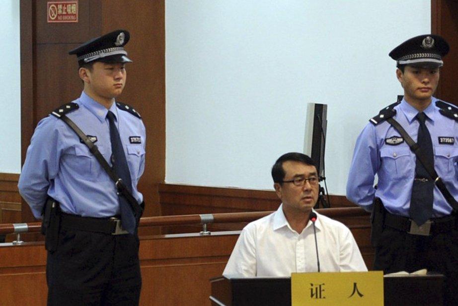L'ancien chef de police Wang Lijun lors du... (Photo AP)