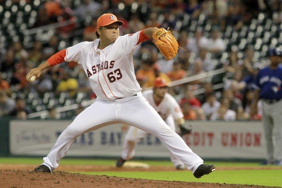 Le lanceur des Astros Chia-Jen Lo.... (Photo Richard Carson, Reuters)