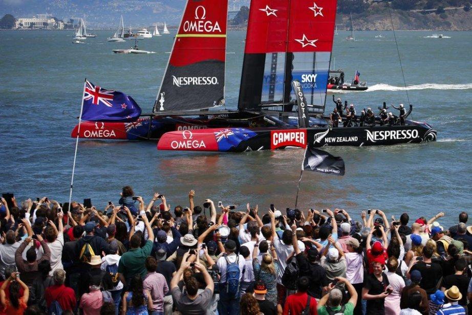 Il s'agissait de la 7e victoire néo-zélandaise dans... (PHOTO PETER ANDREWS, REUTERS)