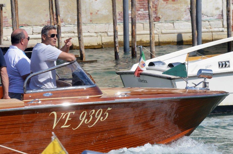 Georges Clooney, au fil de l'eau. | 28 août 2013