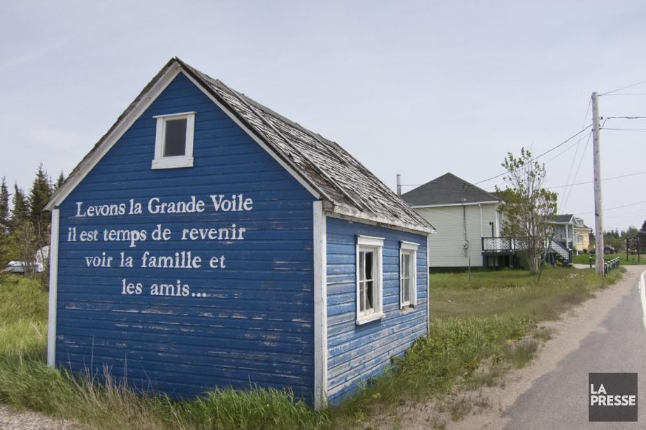 Le message de bienvenue inscrit sur cette petite maison bleue... | 2013-08-29 00:00:00.000