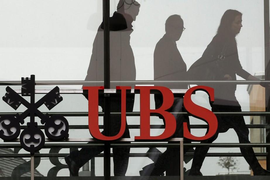 UBS se montre prudente quant à ses prévisions.... (PHOTO ARCHIVES AFP)