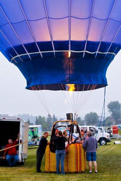 Le Festival des montgolfières est lancé (Patrick Woodbury, LeDroit)