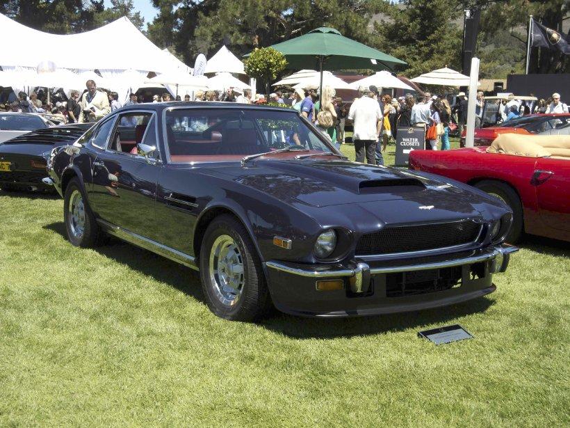 Le 100e anniversaire d'Aston Martin fait monter les enchères pour les produits de cette marque britannique. Ici, la V8 de 1983 demeure aux yeux des spécialistes sous-évaluée à un peu plus. (Photo fournie par le Concours d'Élégance de Pebble Beach)