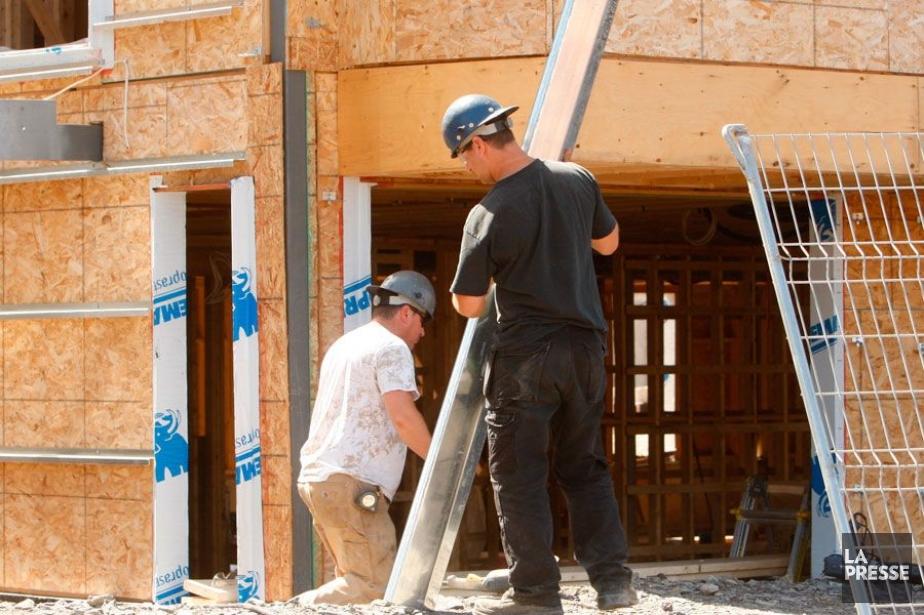 La valeur totale des permis de bâtir au... (PHOTO ARCHIVES LA PRESSE)