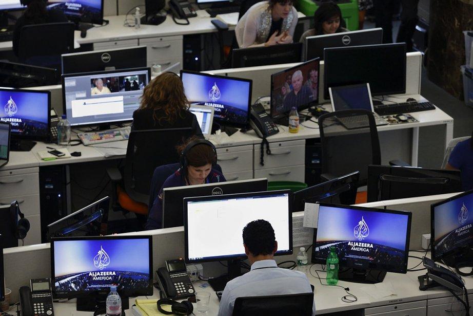 Sur la photo, la salle de presse d'Al... (PHOTO Brendan McDermid, REUTERS)