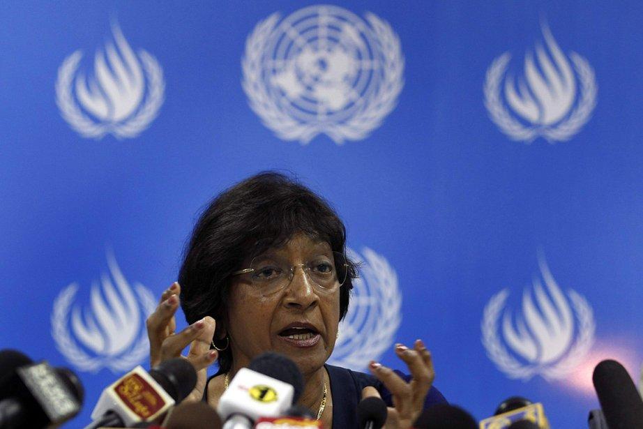 La Haut commissaire de l'ONU pour les droits... (PHOTO Dinuka Liyanawatte, REUTERS)