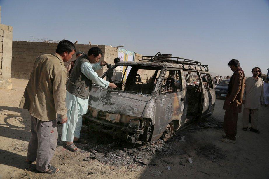 Lors de l'attaque du 28 août, un soldat... (PHOTO RAHMATULLAH ALIZADA, AFP)
