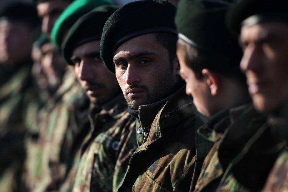 Des membres de l'armée nationale aghane lors de... (Photo Shah Marai, archives AFP)