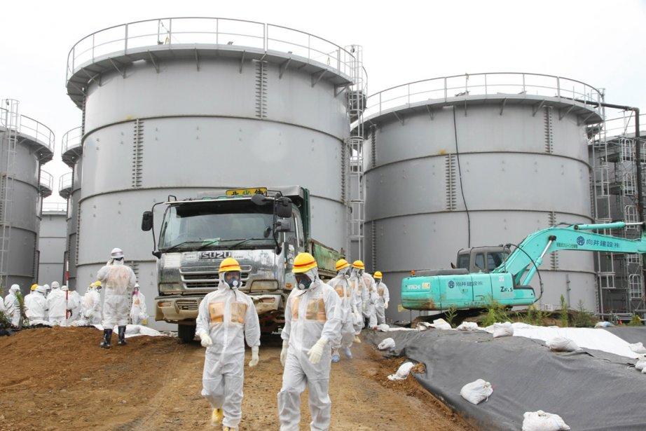 Fukushima Daiichi regorge de quelque 400000 tonnes d'eau... (PHOTO AFP)