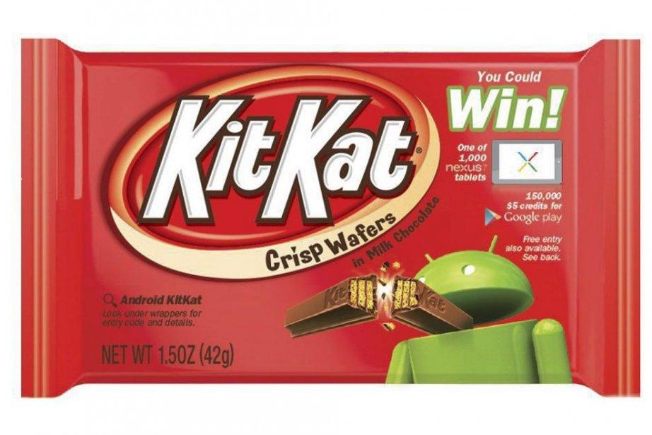 Un emballage de friandise Kit Kat met de... (Photo The Hershey Company, AP)