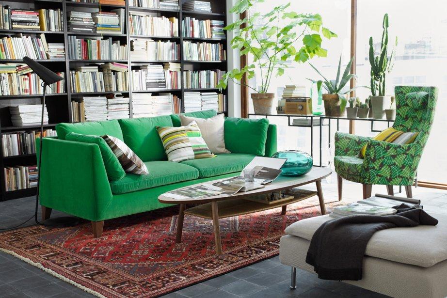 Nouvelle vague scandinave chez ikea for Ikea canape vert