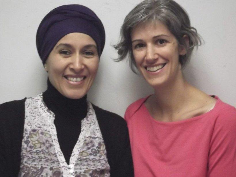 Bouchara, à gauche, en compagnie de l'auteure, Lysanne... (Photo fournie par l'auteure)