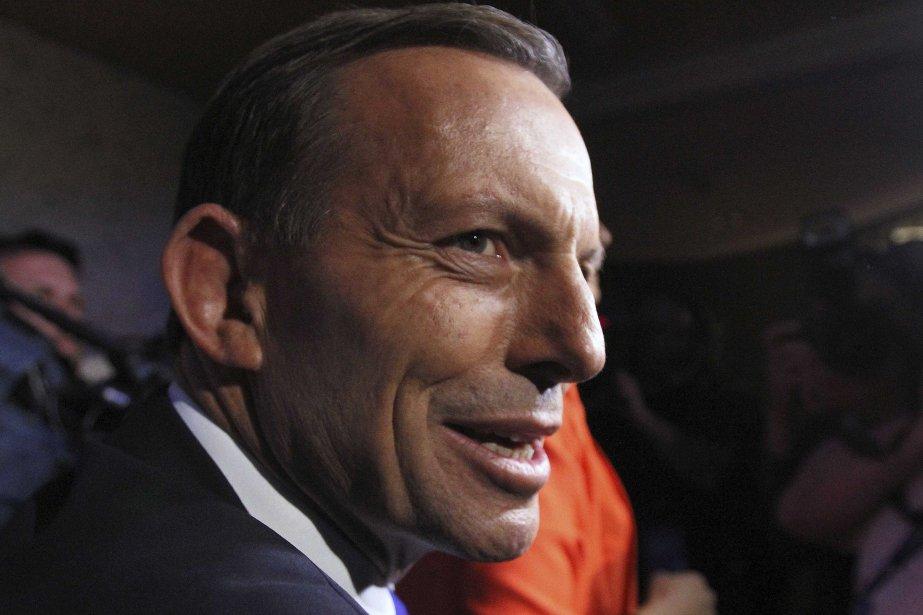 Tony Abbott, chef du parti de l'opposition, est... (Photo REUTERS)