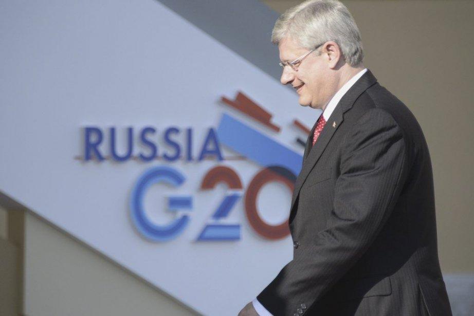 Jeudi, au sommet du G20 à Saint-Pétersbourg, le... (PHOTO ALEXANDER NEMENOV, AFP)