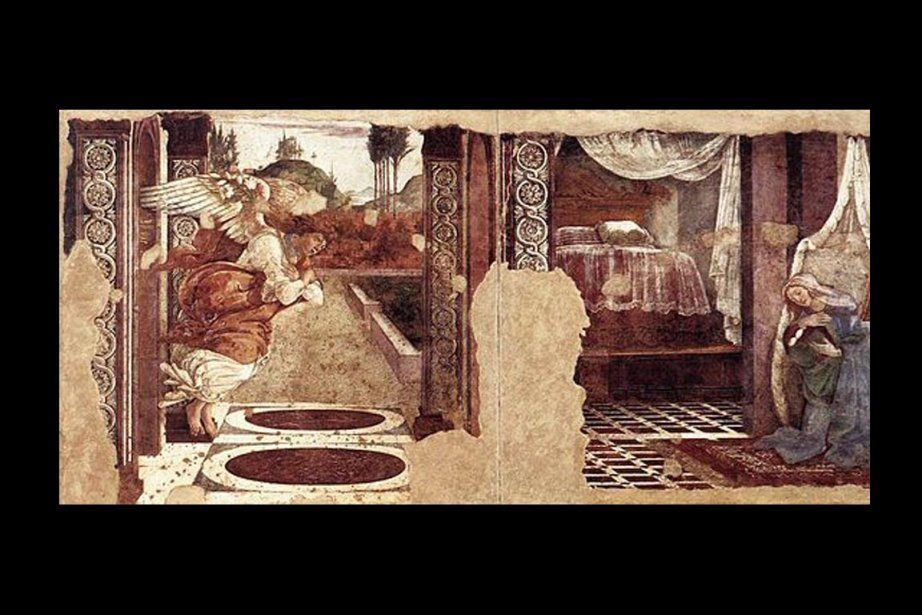 L'annonciation de San Martino alla Scala, de Boticelli....