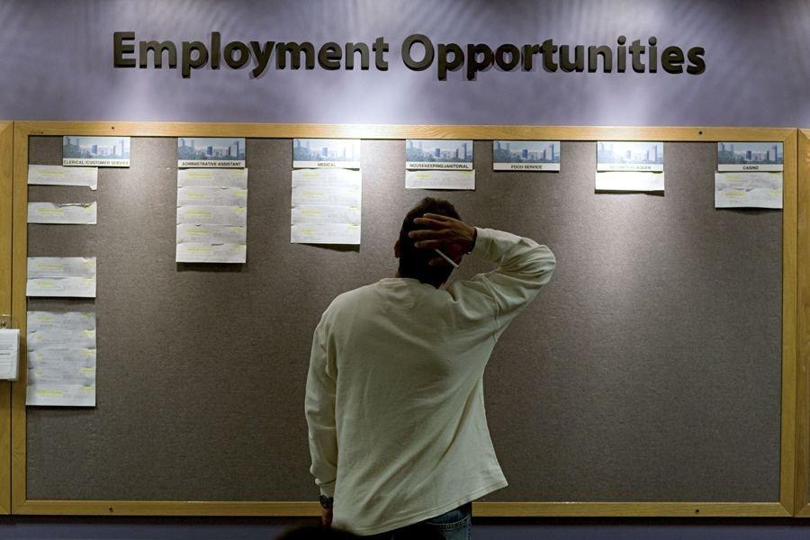 Les inscriptions hebdomadaires au chômage ont... (PHOTO ARCHIVES BLOOMBERG)