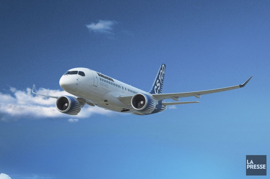 Un avion CSeries de Bombardier.... (Photo fournie par Bombardier)