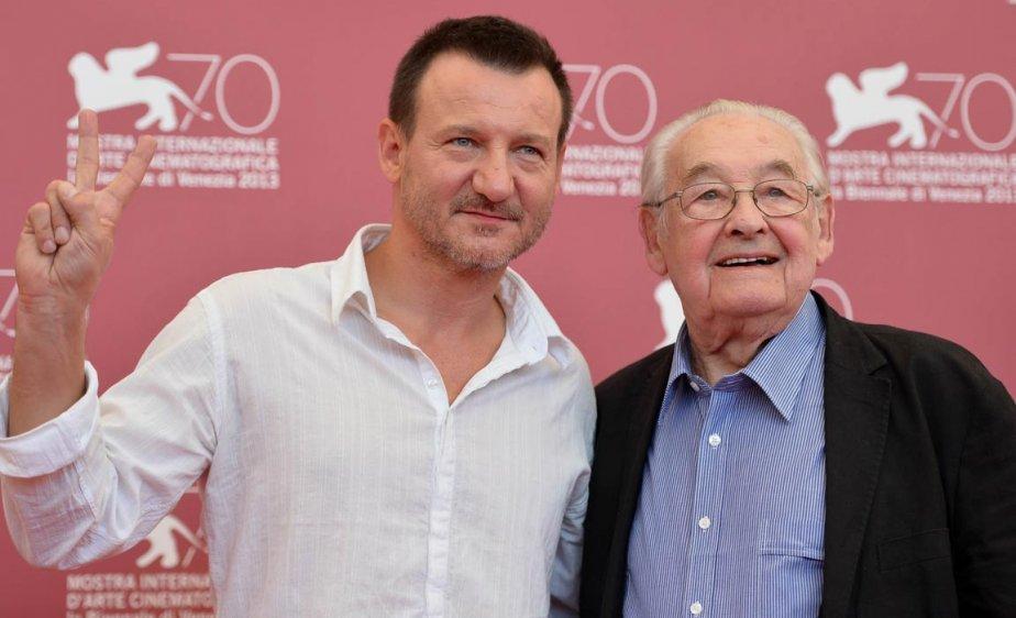 Le réalisateur polonais Andrzej Wajda, à droite, et l'acteur Robert Wieckiewicz pour «Walesa». | 6 septembre 2013