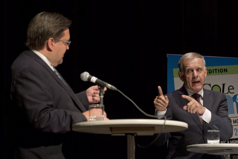 Le candidat à la mairie Marcel Côté somme son rival... (Photo Graham Hughes, PC)