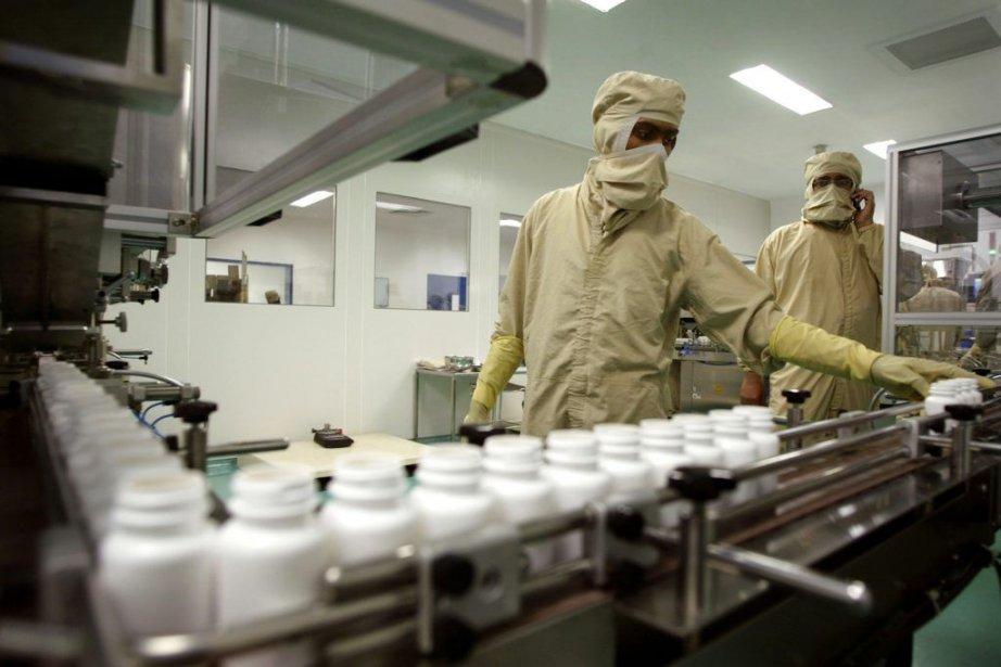 La majorité des médicaments est fabriquée à l'étranger... (PHOTO AMIT BHARGAVA, BLOOMBERG)