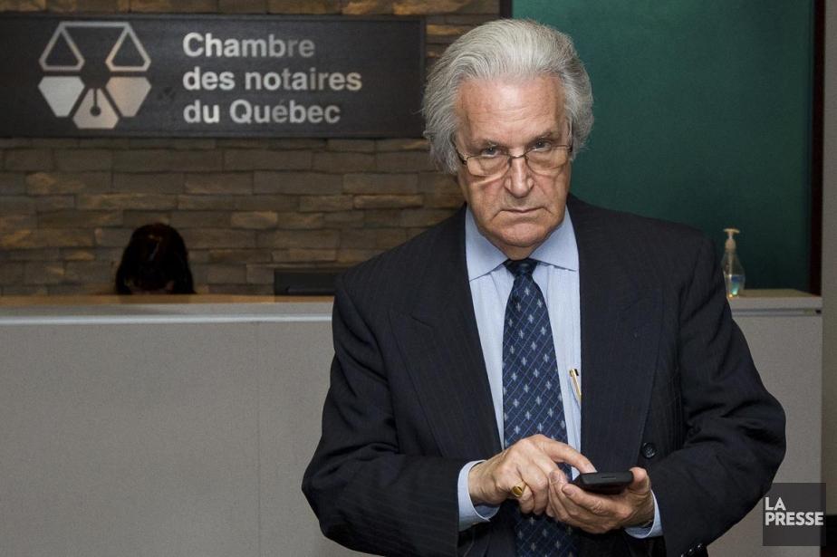 L'ancien notaire Gille St-Pierre.... (PHOTO EDOUARD PLANTE-FRÉCHETTE, LA PRESSE)