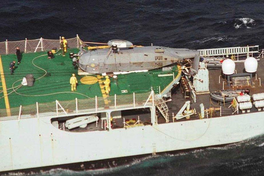 Le navire NCSM Iroquois.... (PHOTO REUTERS)