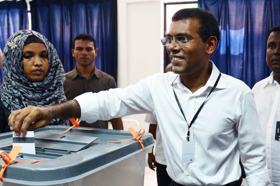 L'ex-président des Maldives Mohamed Nasheed, qui affirme avoir... (Photo ROBERTO SCHMIDT)