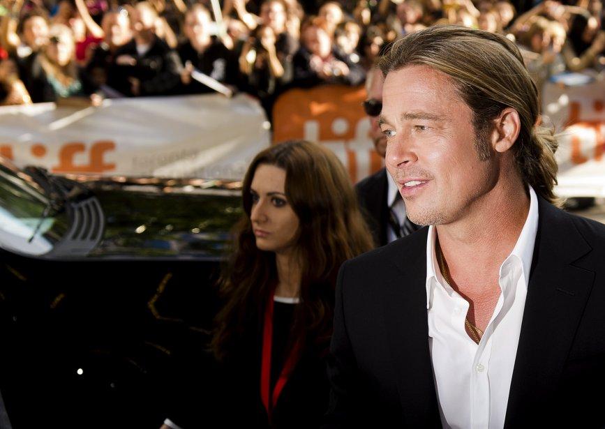 Brad Pitt était présent vendredi où ses nombreux admirateurs l'attendaient pour le gala du film «12 Years a Slave». | 7 septembre 2013