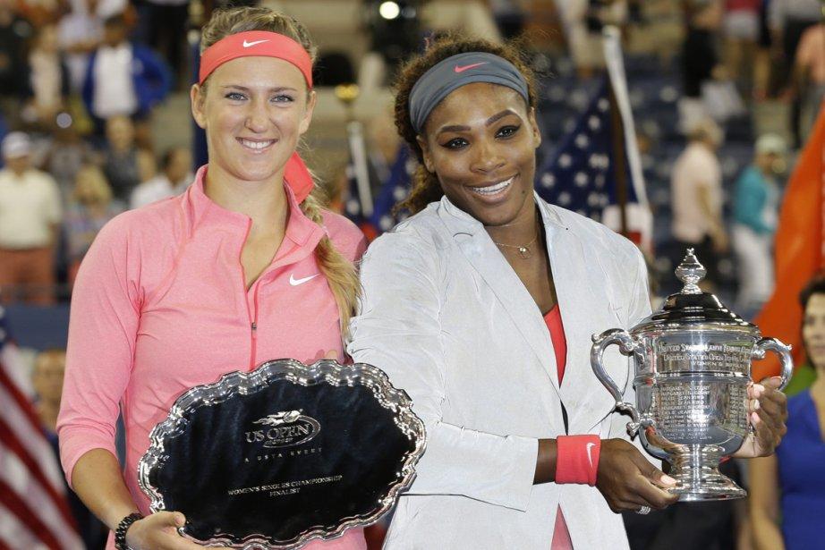 Victoria Azarenka et Serena Williams... (Photo Darron Cummings, AP)