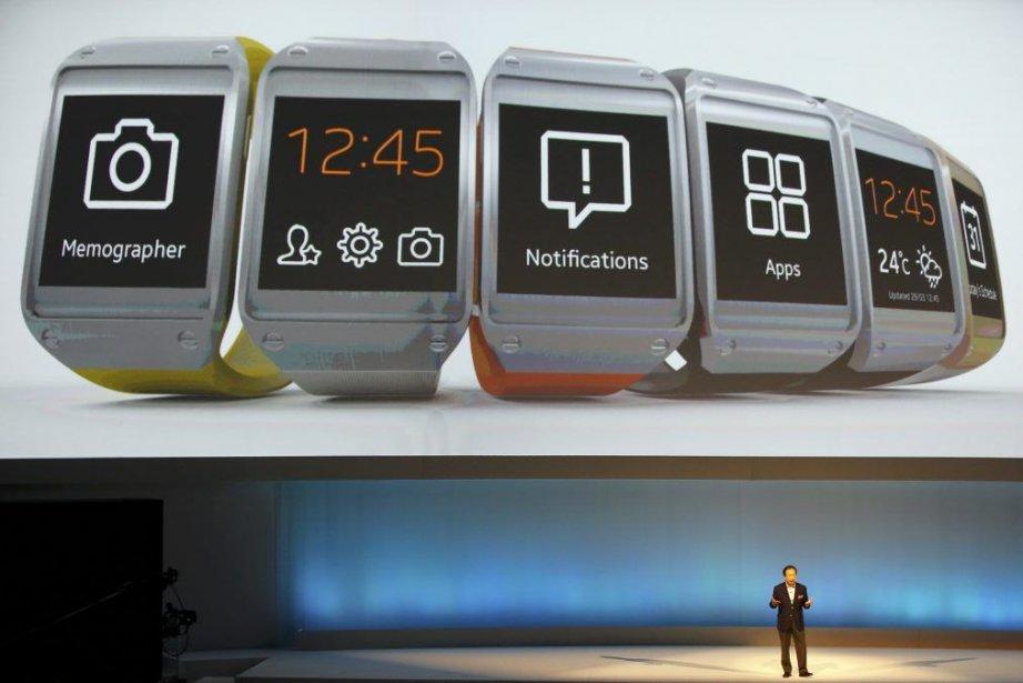 La Samsung Galaxy Gear a été la vedette... (PHOTO FABRIZIO BENSCH, REUTERS)