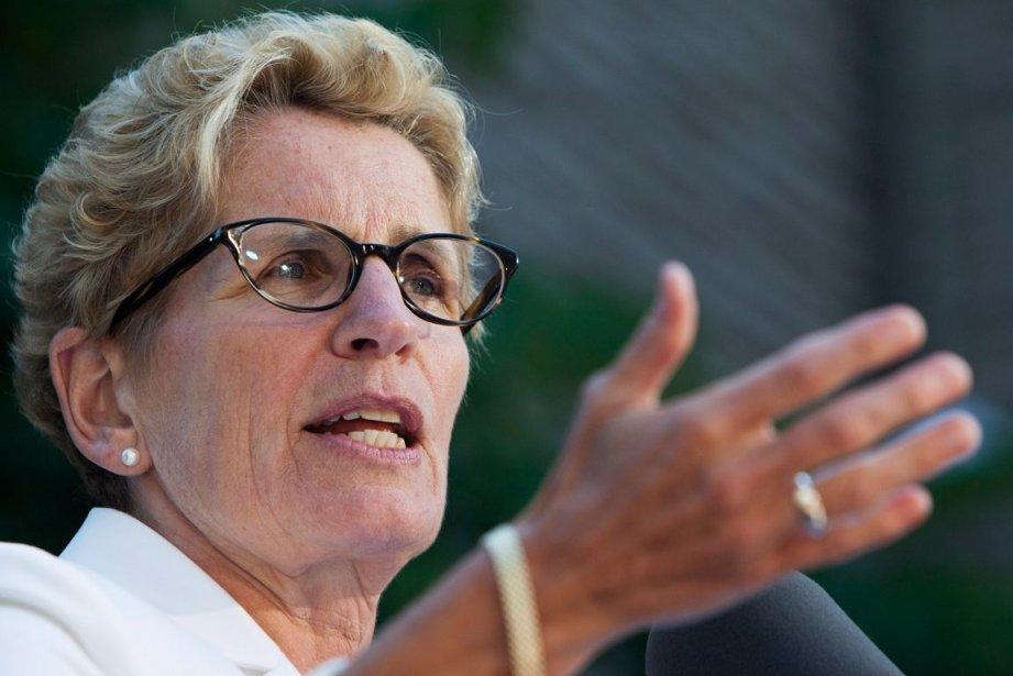 La première ministre de l'Ontario, Kathleen Wynne, affirme... (PHOTO AARON LYNETT, ARCHIVES PC)