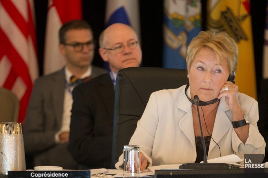 La première ministre Pauline Marois a coprésidé la... (Photo Ivanoh Demers, La Presse)