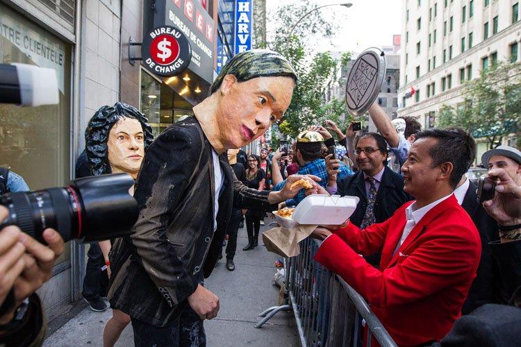 À 18h30, les membres d'Arcade Fire ont pris... (Photo: Édouard Plante-Fréchette, La Presse)