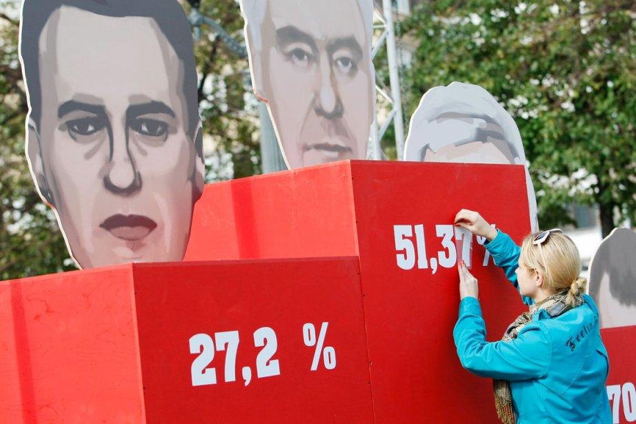 Sergueï Sobianine a remporté la municipale de Moscou... (PHOTO DENIS TYRIN, AP)