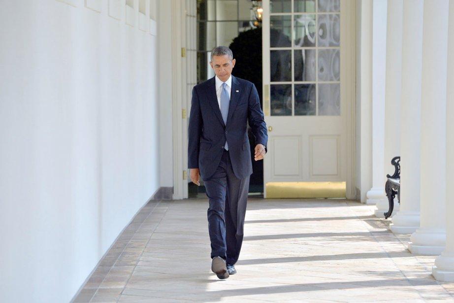 Le président Barack Obama à la Maison-Blanche, le... (PHOTO JEWEL SAMAD, AFP)