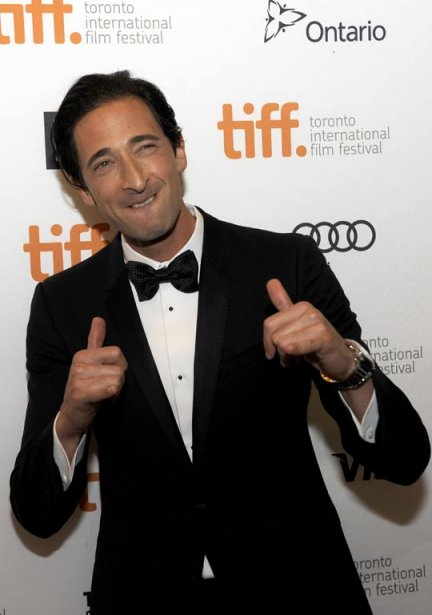L'acteur Adrien Brody avant la projection du film «Third Person». | 10 septembre 2013