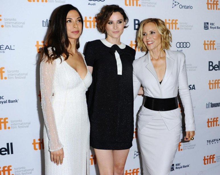 Les actrices Moran Atias, Loan Chabanol et Maria Bello prennent la pose avant la première de «Third Person». | 10 septembre 2013