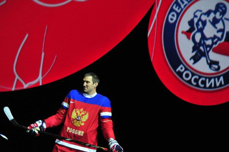 Alexander Ovechkin a endossé l'uniforme national russe lors... (Photo: AFP)