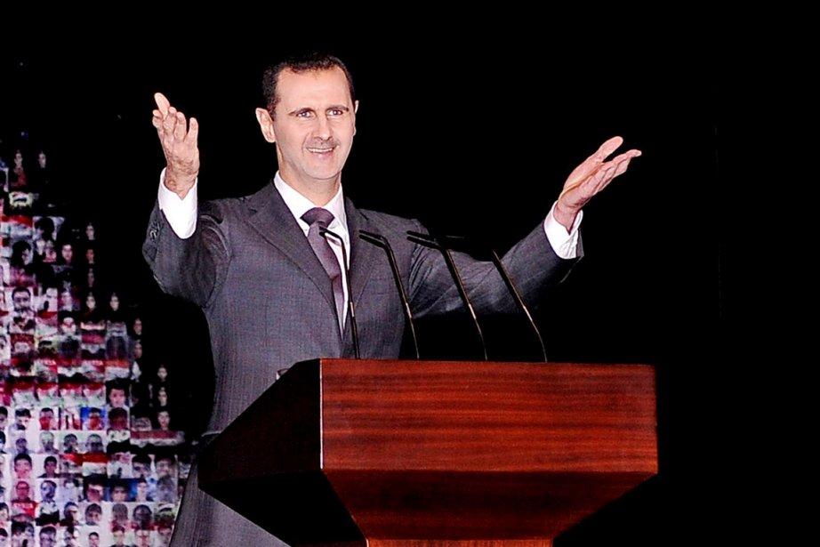 Le président syrien Bachar al-Assad, à Damas, le... (PHOTO ARCHIVES AP/SANA)