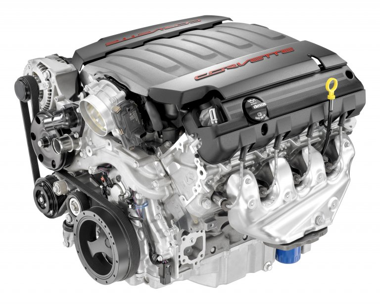 Le V8 LT1 de 6,2 litres de la Chevrolet Corvette 2014. (Photo fournie par General Motors)