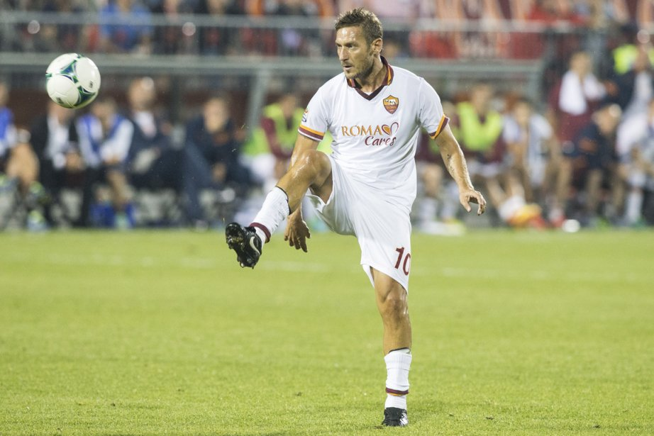 Francesco Totti... (Photo Chris Young, PC)