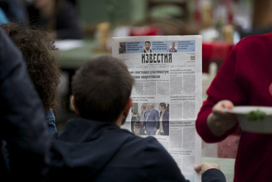 Alexandre Malioutine, rédacteur en chef d'Izvestiaqui a publié... (Photo AP)