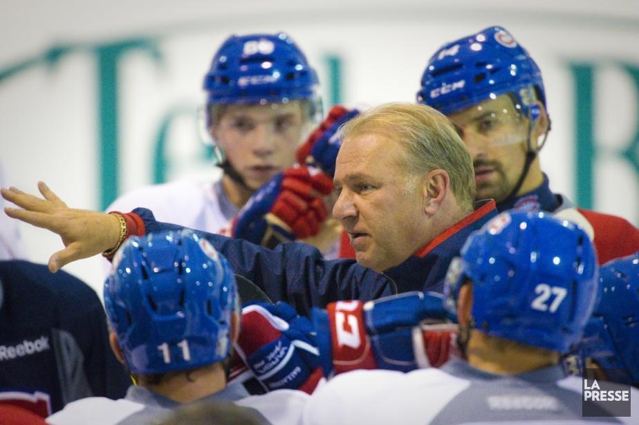 L'entraîneur Michel Therrien a donné des directives à... (Photo André Pichette, La Presse)