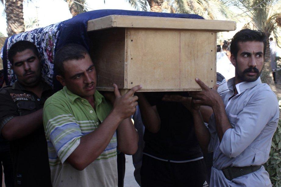 Vendredi, un double attentat à la bombe avait... (Photo Mohammed Adnan, Reuters)