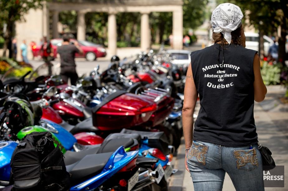 Des motocyclistes ontparticipé à une manifestation dans le... (PHOTO DAVID BOILY, LA PRESSE)