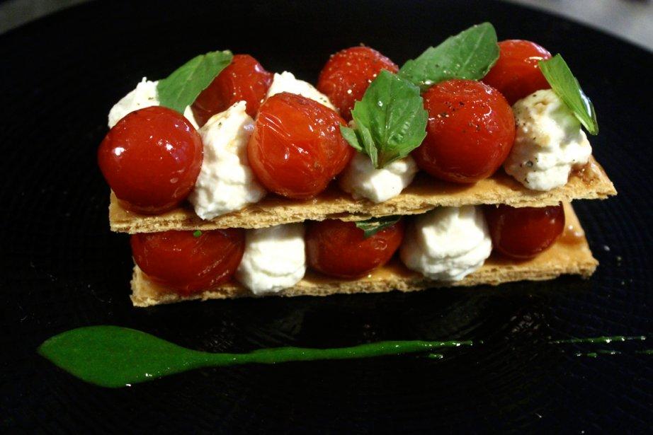Tomates cerise confites et crème de burrata composent... (photo RelaxNews)