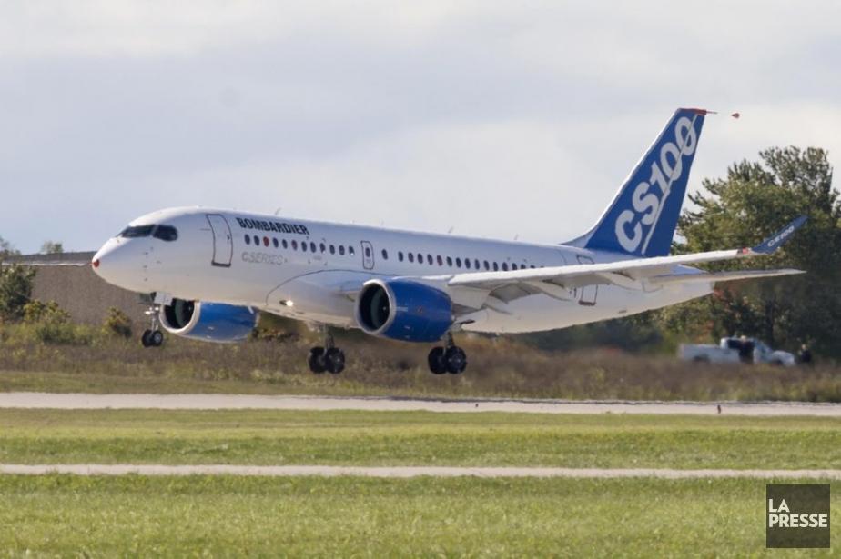Uun avion de la CSeries, de Bombardier, décollait... (Photothèque La Presse)