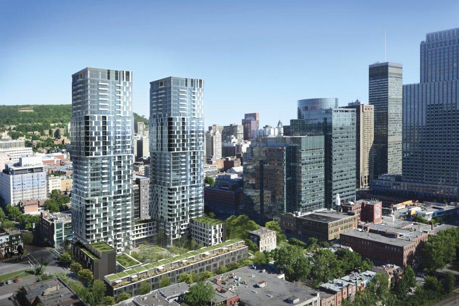 Le YUL devrait comprendre deux grattes-ciel de 38... (Illustration fournie par MSDL Architectes)